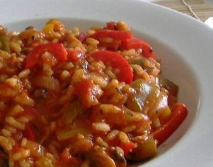"""""""Risotto"""" integral de Tomates"""